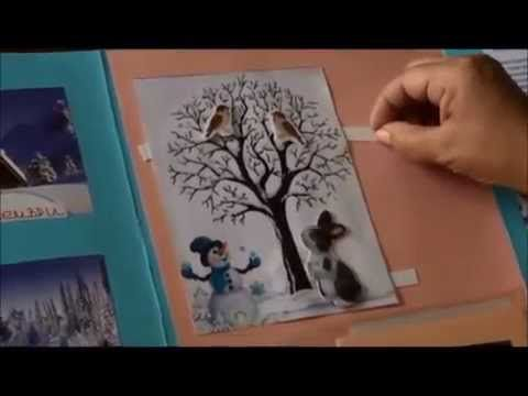 Lapbook Winter - YouTube
