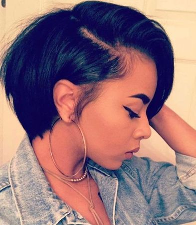 """10"""" Short Bob Wigs For African American Women The Same As The Hairstyle In The Picture - Human Hair Wigs For Black Women"""