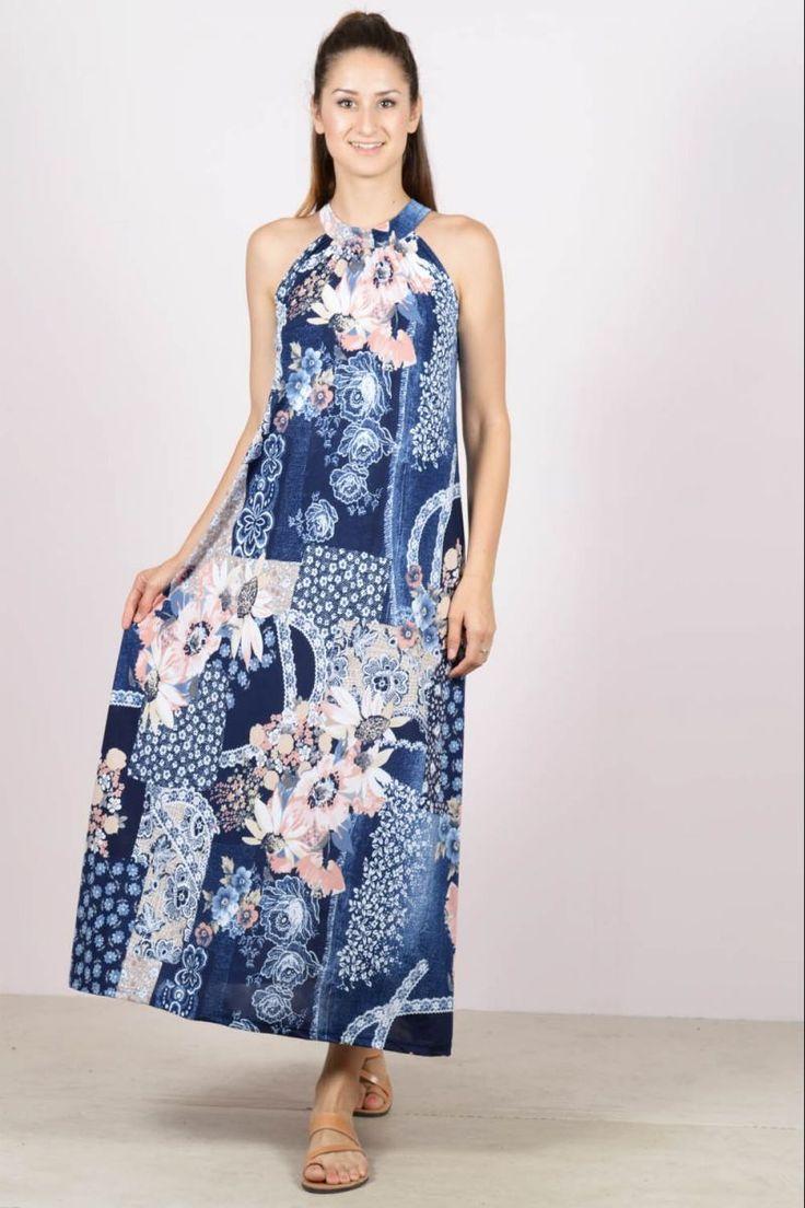 Φλοράλ μάξι φόρεμα eXXes.Ύψος μοντέλου: 1,78m94% Polyester 6% Spandex
