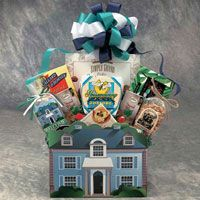 """""""Welcome Home"""" Gift Basket from La Bella Baskets & Gifts. Wonderful idea for a closing gift or business client appreciation! Take a look: www.yourgiftbasketshop.com"""