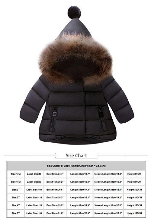 543b216604f3 Kintaz Toddler Baby Kids Girls Boys Down Jacket Coat Autumn Winter  Outerwear Hooded coats Warm Children Clothes (3T