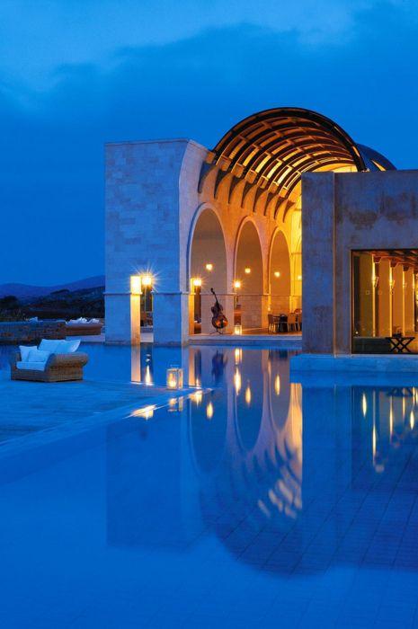 The Blue Palace, Isle of Crete, Greece  @classiquecom  http://classiquecom.canalblog.com/    http://twitter.com/#!/classiquecom