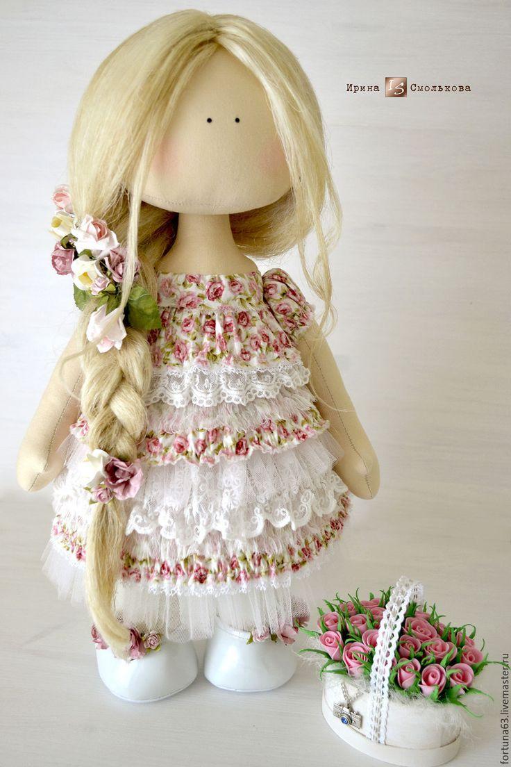 Купить текстильная кукла ЛИЗА - розовый, текстильная кукла, кукла текстильная, интерьерная кукла