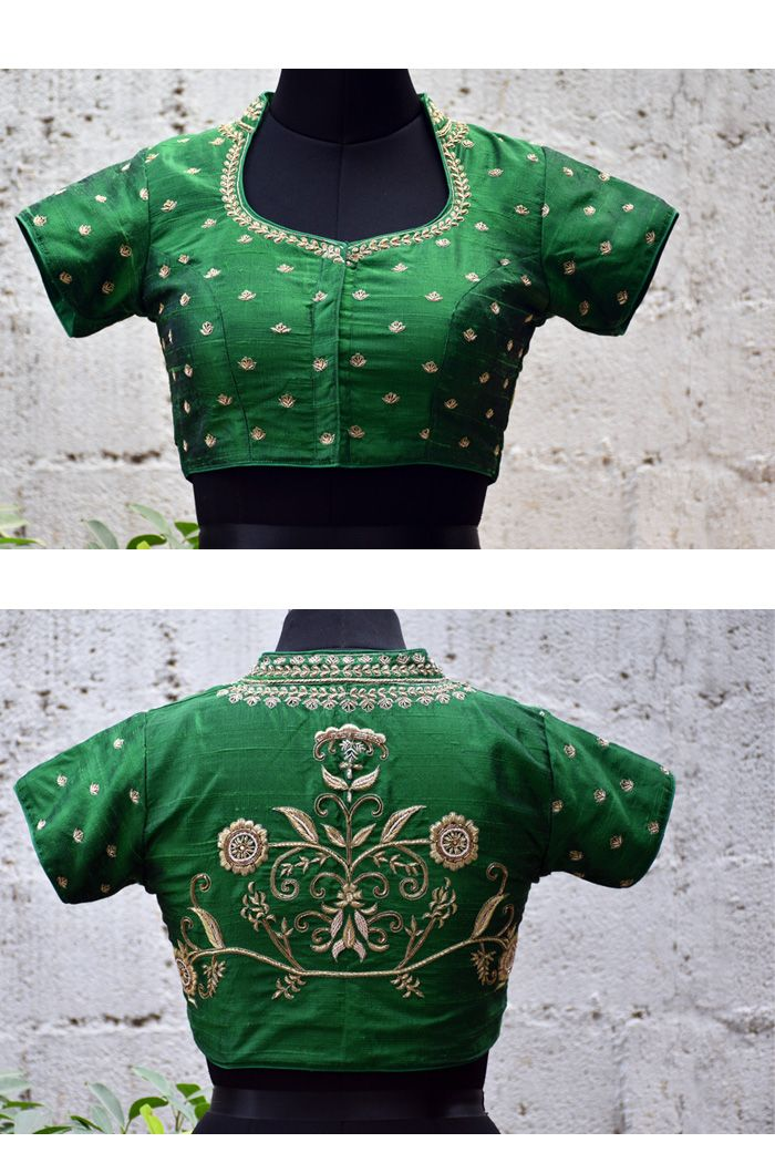 5f816fa48abc84 A readymade blouse with elaborate embroidery | Ready-To-Wear Blouses ...