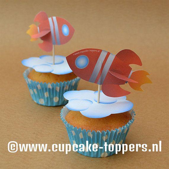 Afbeeldingsresultaat voor raket cupcake