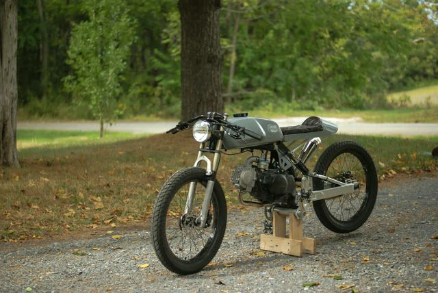 moped cafe racer #motorcycles #caferacer #motos | caferacerpasion