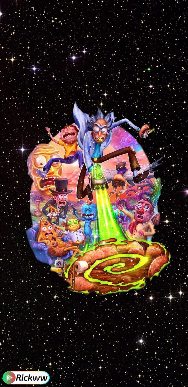 Rick Morty In Space Papeis De Parede Psicodelicos Wallpaper Pisicodelico Imagem De Fundo Para Iphone