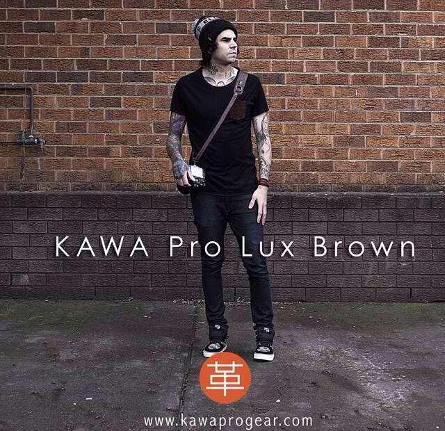 Keep your camera secure while you shoot in style - GENUINE LEATHER CAMERA STRAP by KAWA PRO GEAR