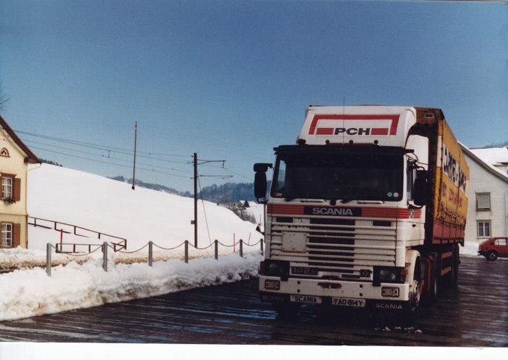 Scania 142 in Switzerland.