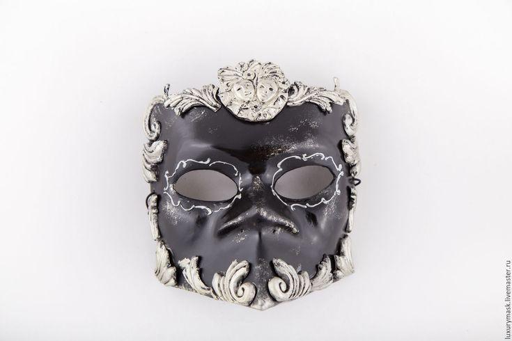 Купить Венецианская маска Bauta Barocco Silver - серебряный, венеция, маска, карнавал, карнавальная маска