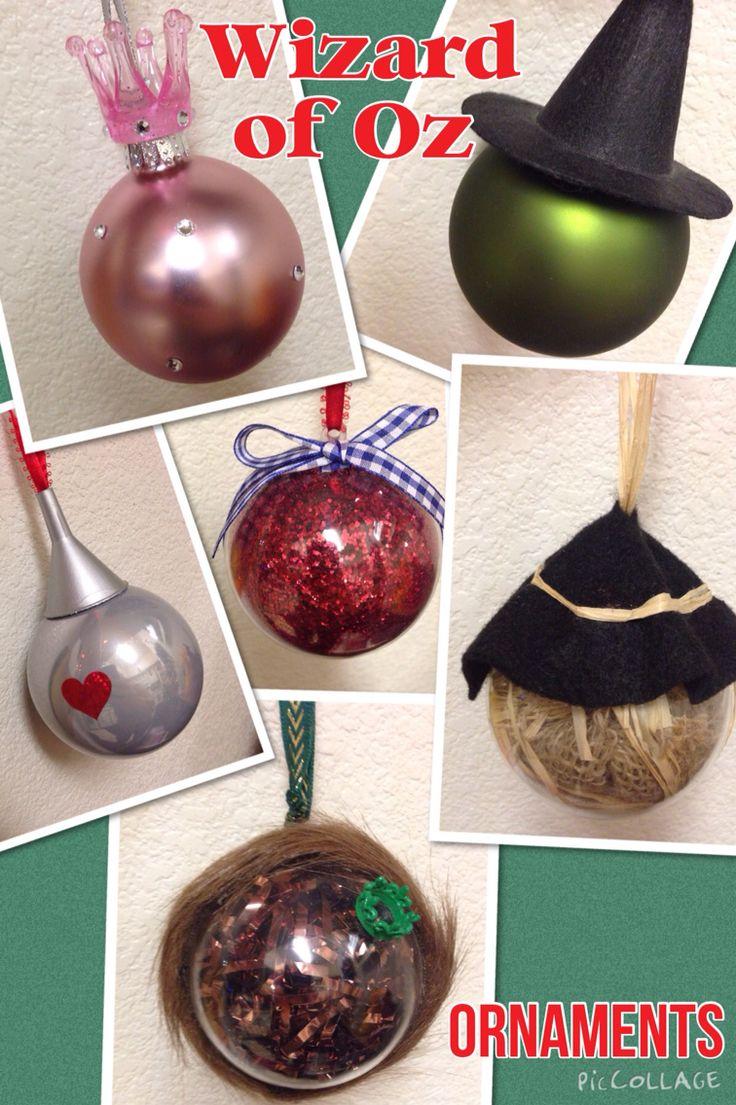 My handmade Wizard of Oz Ornaments