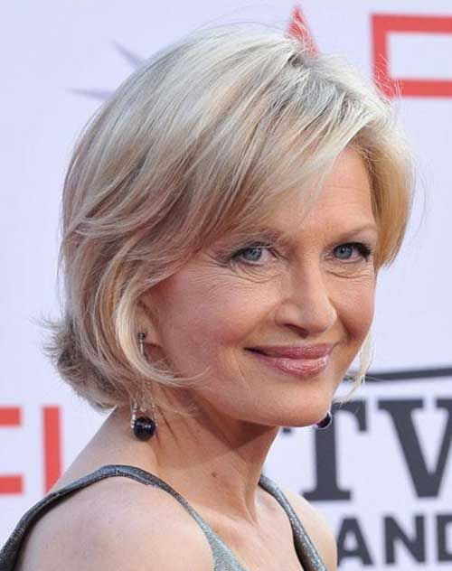 Layered Short Hair for Women Over 70