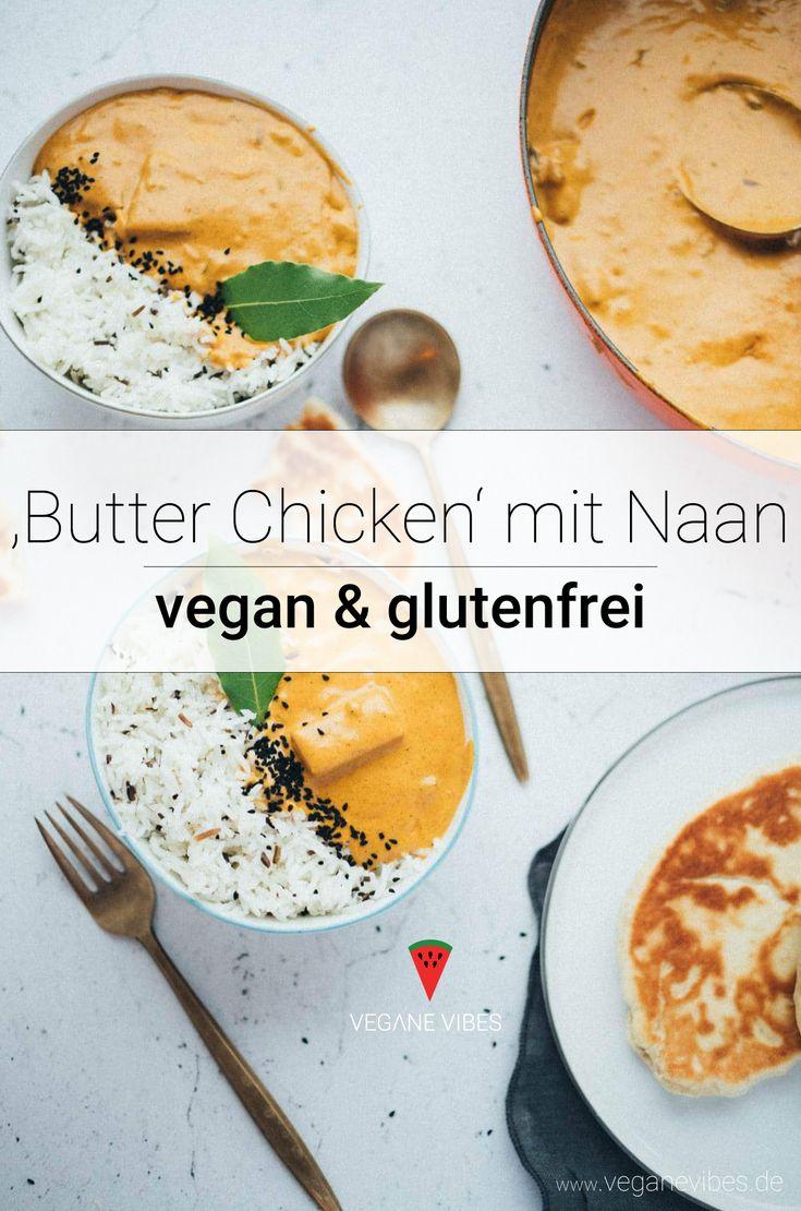 veganes 'Butter Chicken' mit Naan