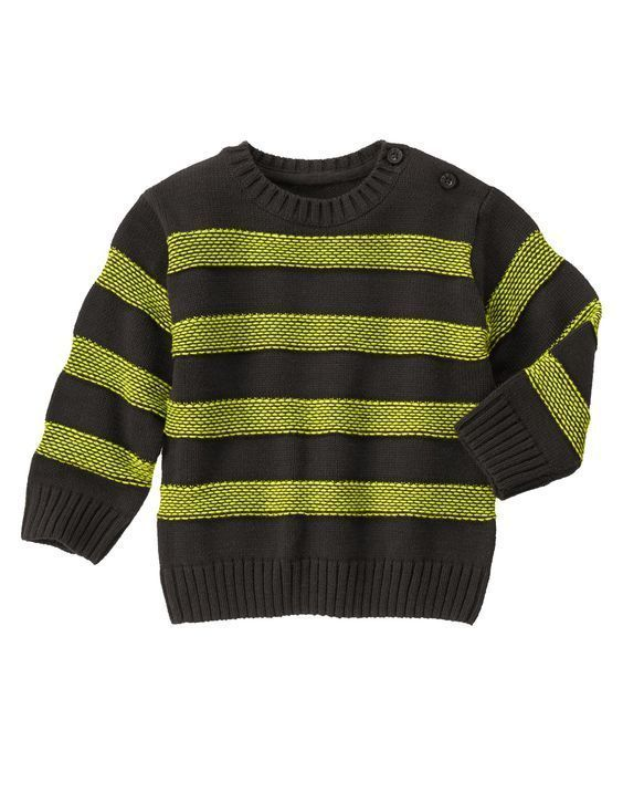 NWT Gymboree Boy ICE ALL STAR Stripe Crew Long Sleeve Pullover Sweater Lime Gray #Gymboree #Pullover #CasualEverydayHoliday