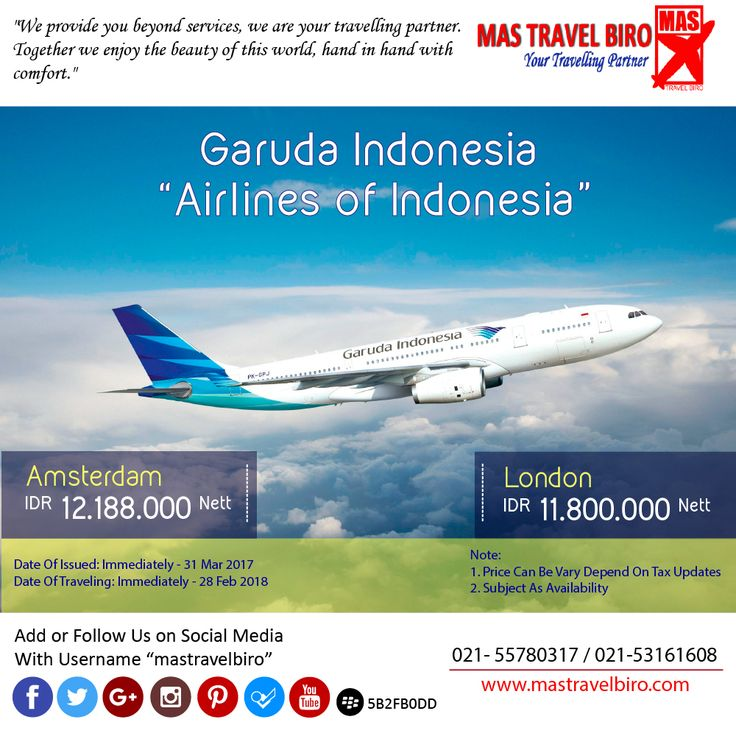 Garuda Indonesia Flight to London Only IDR 11.800.000 Nett PP ;) . Book Now !! :D #mastravelbiro #promo #garudaindonesia #tiket