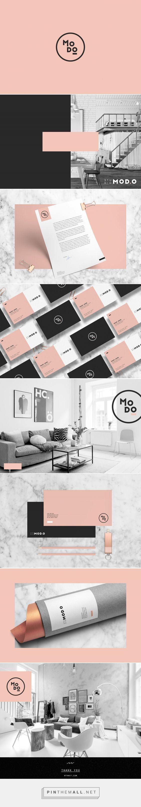 5.Outra inspiração de logo minimalista, que traz duas formas bem modernas de disposição do nome da empresa. Duas cores marcantes na paleta e muita elegância e modernidade! #IdentidadeVisual #Logo #Propaganda #Branding #Creative #TudoMarketing #TudoMkt