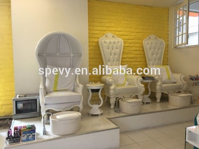 Source beauty salon luxury royal furnitures spa pedicure chairs with water spray on m.alibaba.com