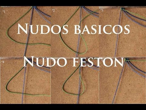 nudos basicos del macrame nudos feston - YouTube