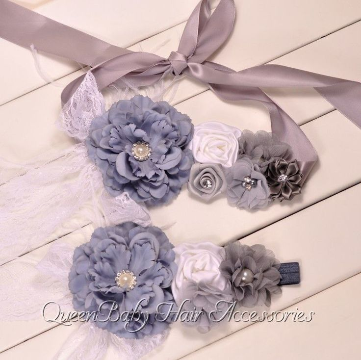 Peony Flower Belly Sash & Matching Baby Headband