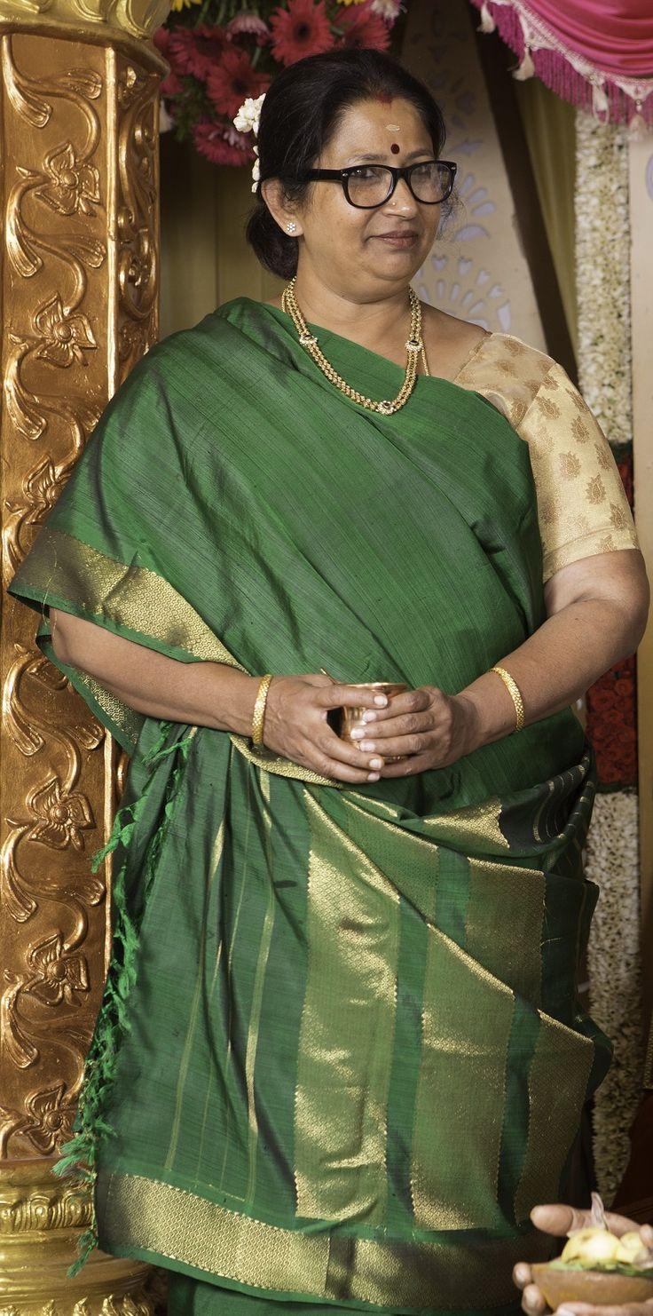 Jyothika traditional sari at shobi wedding saree blouse patterns - Elegant Green Golden Combination Photostrophe Photostrophe Wedding Photography Weddingphotography