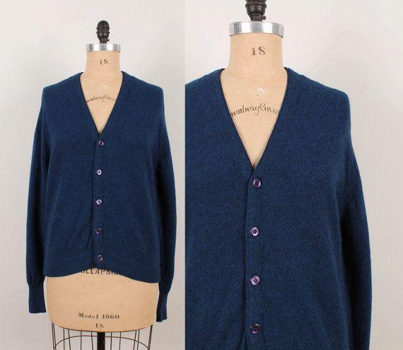 1960s Cashmere / Wool Cardigan Sweater