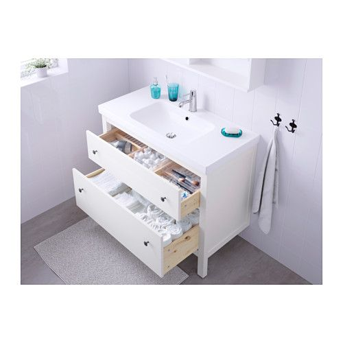IKEA HEMNES/ODENSVIK wash-stand with 2 drawers