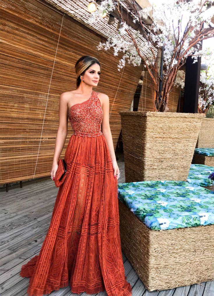 Vestido longo de renda: 80 modelos incríveis para usar em diversas ocasiões | Dresses, Elegant dresses, Strapless dress formal
