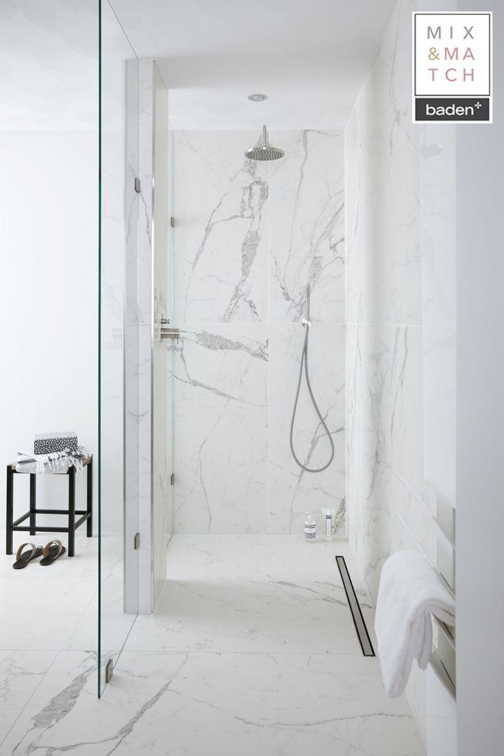 Hoe gaaf zijn deze marmeren tegels in de badkamer?♡ Het voelt als een badkamer in een luxe hotel! #marble