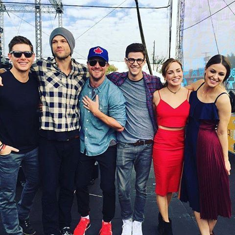 Stephen, Jared, Jensen, Grant, Caity and Melissa at the EW Pop Fest, 2016