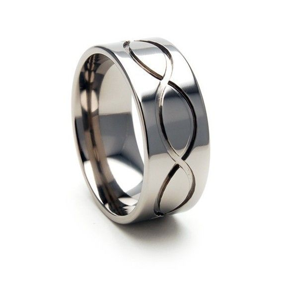 new usa made infinity titanium ring free sizing jewelry 4 17 9f infinity - Infinity Wedding Rings