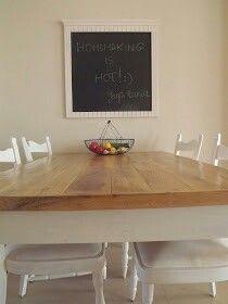 Wooden furniture in the kitchen. DIY at jagabunia.blogspot.com