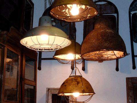 Vintage Industrial Warehouse Lights