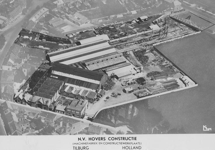 Luchtfoto N.V. Hovers Constructie (Machinefabriek en Constructiewerkplaats). Regionaal Archief Tilburg, BOL 063913.