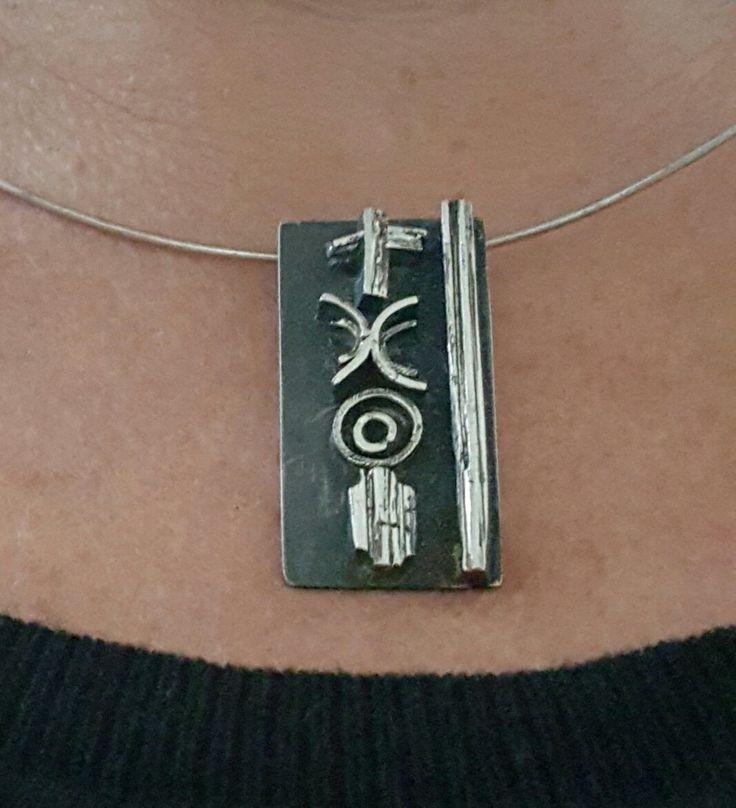 Met passion design - silver pendant