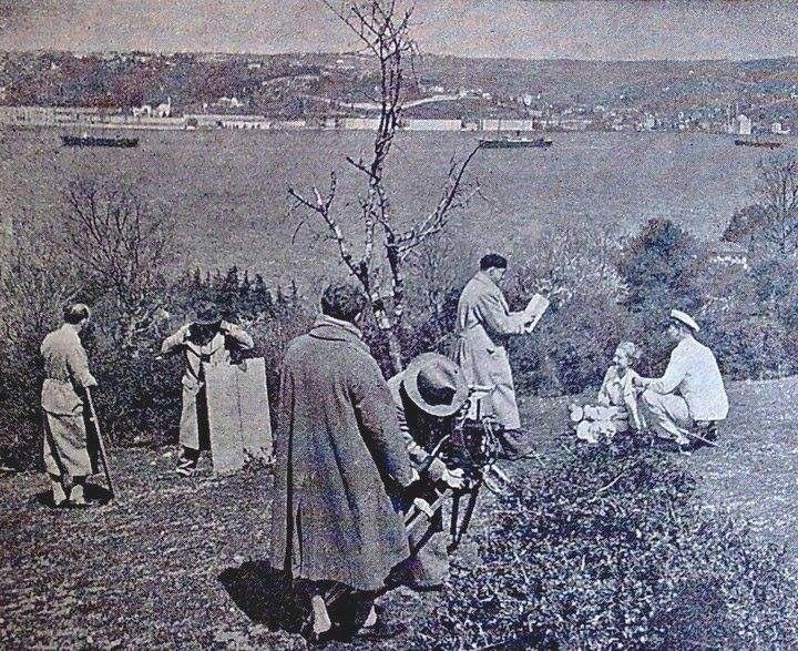 16 nisan 1933 Boğaziçi 'nde bir film çevriliyor..