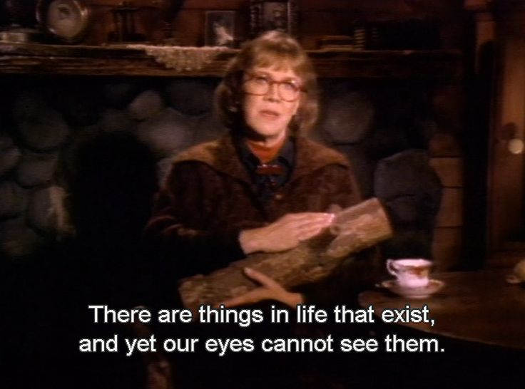 """There are things in life that exist and yet our eyes cannot see them"" the log lady - Twin Peaks - David #Lynch"