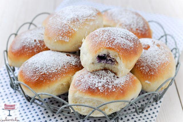 Domowa cookierenka Agi: Drożdżówki z serem i borówkami