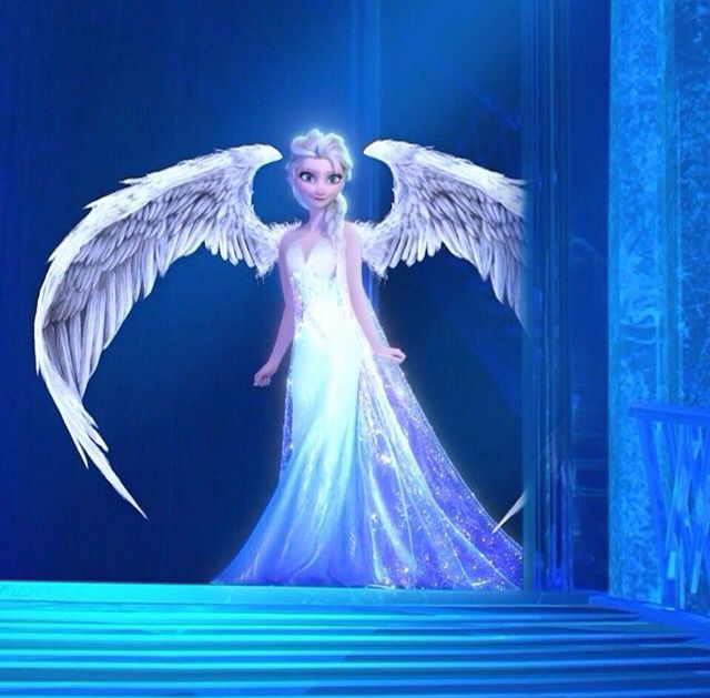 3e92fbbb761fa961c1cbaddf5d166c80.jpg (640×629) I know this just a picture of elsa with angel wings, but it's pretty anyway