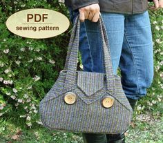 Sewing pattern to make the Exchange Bag  PDF by charliesaunt, $8.00
