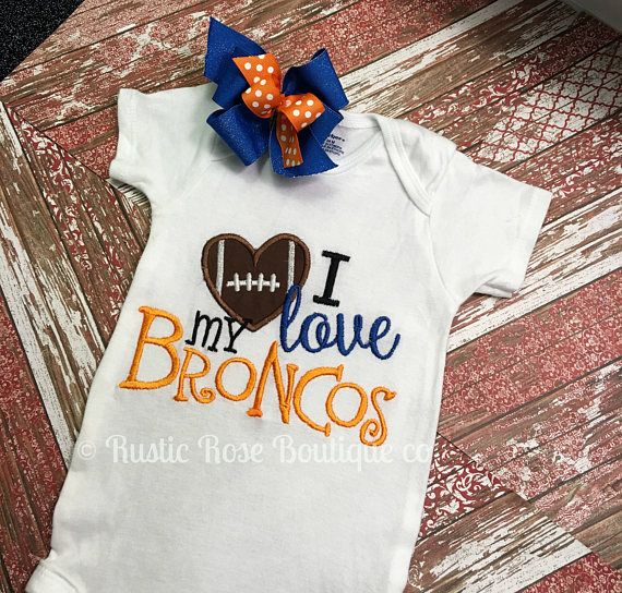 Boutique girls football shirt Football sister Football , Broncos, Denver broncos, Sports, Football, Boutique, Boutique outfits, Boutique shirts, Boutique baby clothes, Boutique girls clothes, Baby onesie, Embroidery, Baby shower gift,