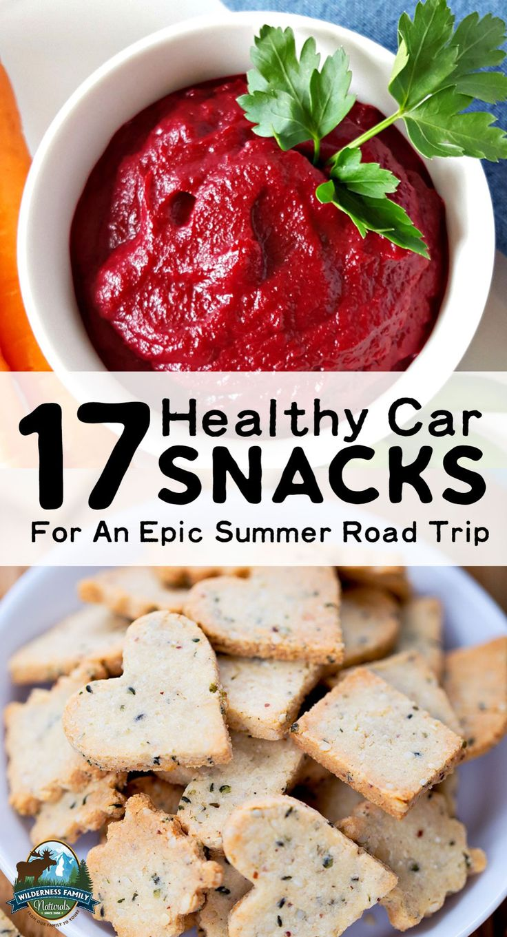 17 Healthy Car Snacks For An Epic Summer Road Trip | We've chosen the best of our nourishing snack recipes so you can load up and enjoy an epic road trip! From protein-packed granolas and sweet treats to salty snacks or veggies and dip, it's all here... and it's all portable!
