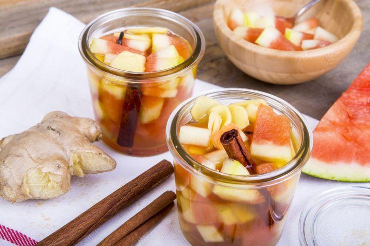 Eingelegte Wassermelonenschale #pickled #watermelon #extraordinary #recipe #trick