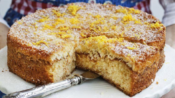 Mjuk kaka med citronkokostosca