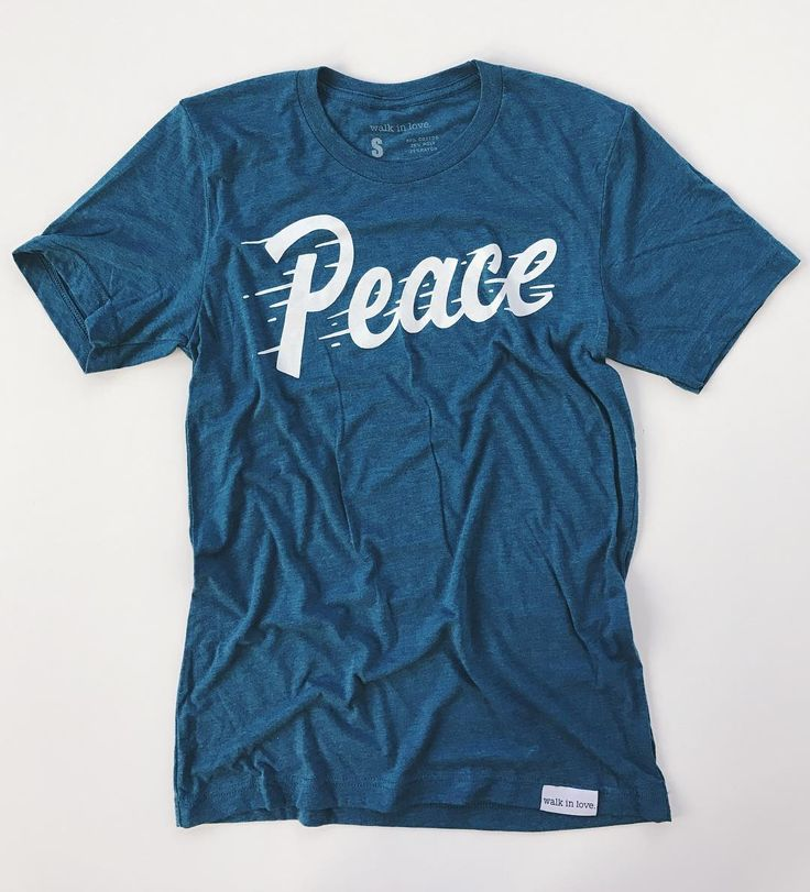 Day 16 of giveaways starts now! Tonight we are giving away one of our brand new (releasing tomorrow!!) steel blue Peace t-shirts.  To enter make sure you're following @walkinlove and then tag a friend in the comments. Bonus points if you also comment with your favorite Christmas movie! The winner of last night's giveaway is @nmrappe. Congrats Nicole! #walkinlove #wil24daysofgiveaways
