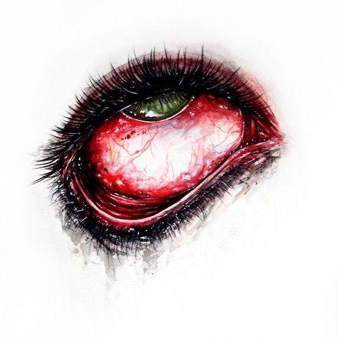 Gory Eye Sketch Eye Sketch Pencil Sketch