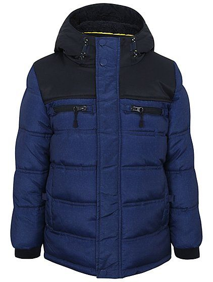 Inspired by the Great British weather, this hooded jacket is filled with padding to help keep your little one warm and protected from the elements. Crafted f...