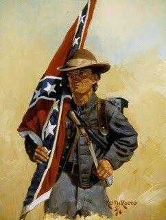 Confederate Infantry. American Civil War