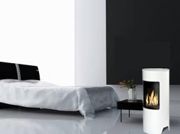 Trataka white ethanol fireplace from zenflames.com