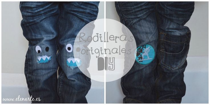 Rodilleras originales diy / www.elenarte.es