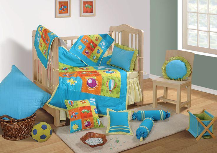 "First Dreams "" Air Trip "" | Buy @ inhoma.de #Inhoma #Baby #Beds #BabyBettwäsche #Bettwäsche #Boys"